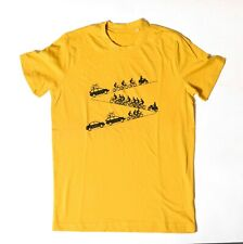 Peloton - Cycling Up Hill - Hand Drawn & Hand Printed T Shirt