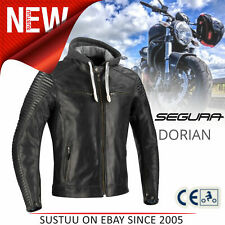Segura Dorian Motorcycle/Bike Mens Summer Leather Jacket│CE App│Black│All Sizes