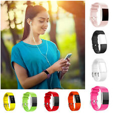 Replacement Wristband Smart Watch Strap Silicone Bracelet For Fitbit Charge 2