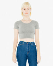 American Apparel Womens Short Sleeve Crop Top
