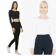 American Apparel Womens Long Sleeve Crop Top