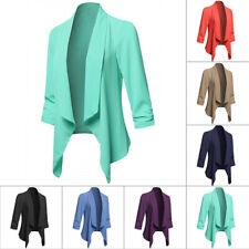 Coat Ladies Jacket Long Sleeve Spring Autumn Solid color Casual Outwear Fashion