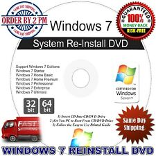 NEW ! Windows 7 Home Premium 32/64 Bit Install DVD USB/DVD
