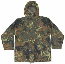 Genuine German Army Issue Waterproof Gore Tex Parka Flecktarn Camo Jacket Faulty
