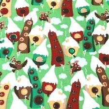 Christmas Cotton Fabric Green Craft Quilting Upholstery Fabric Fat Quarter