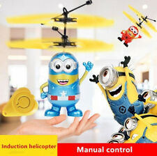 Infrared induction Fly Minion RC Helicopter Hand Control Toys Quadcopter RC