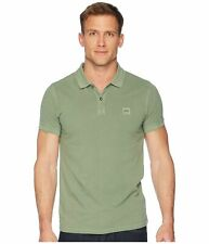 Hugo Boss Men's Slim-fit polo shirt in washed cotton piqu_