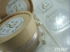 Wedding Stickers personalised Large Round stickers 50mm   x 50 - 200 labels
