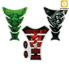 Motorcycle Stickers 3D Fuel Tank Pad Protector Decal Funny Decoration Skull Tool