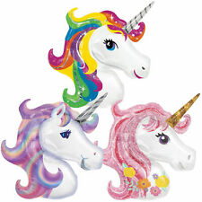 UNICORN BALLOON 1M FOIL 3D HEAD LARGE BIRTHDAY PARTY HELIUM & AIR Kids