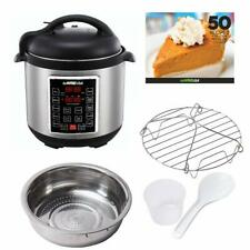Instant Pot Electric Pressure Cooker Programmable Stainless Steel Pot Silver