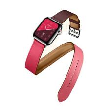 Leather Apple Watch Band  Strap 42/38/44/40mm Double Tour Bracelet Series 4 3 2