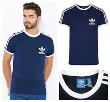 Adidas Originals Trefoil Mens T Shirts Casual Cotton Tee Shirt Logo Navy