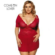 RI70335 Comeonlover Sexy Lingerie Lace Deep V Plus Size Lingerie Sleepwear V