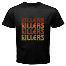 NEW THE KILLERS INDIE ROCK BAND LOGO BLACK T-SHIRT SIZE S TO 3XL USA SIZE EM1