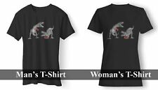 T REX DINOSAURS BOXING WOMAN'S AND MAN'S T-SHIRT USA SIZE EM1