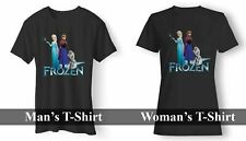 ANNA ELSA OLAF FROZEN MAN T-SHIRT AND WOMAN T-SHIRT USA SIZE EM1
