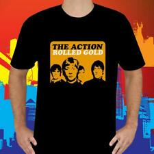 NEW THE ACTION ROLLED GOLD ROCK BAND MEN'S BLACK T-SHIRT SIZE S TO 3XL USA SIZE