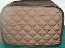 Quilted 2 Slice Toaster Cover Brown Made to Order SEND YOUR MEASUREMENTS!!