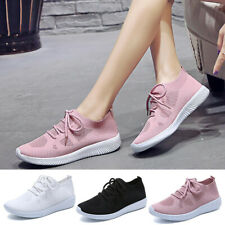 Fashion Women's Outdoor Mesh Lace Up Sports Shoes Run Breathable Shoes Sneakers