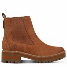 Timberland A1J5J Women EK Courmayeur Valley Chelsea Lightweight Boots Brown Size