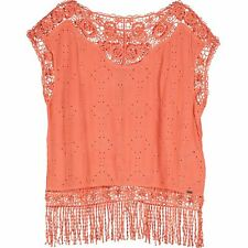 SUPERDRY Women's Coral Fluorescent Cape Top Size XS,S,M