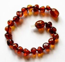 Genuine 100% natural Baltic amber bracelet / anklet, knotted beads, select type