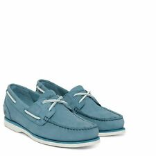 Timberland A1P68 Classic Unlined Womens Leather Boat Shoes Blue A1P68476 Size