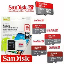 SanDisk Ultra New 16GB 32GB 64GB micro SD HC Flash Memory Card 80MB Class10 128