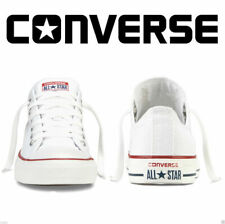 Converse Low Top Men Womens Unisex All Star White Chuck Taylor Trainers Shoes UK