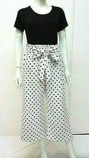 *New 2019 LOOK Plus SIZE HIGH Waist PAPERBAG Polka Dot WIDE Culottes MADE IN UK*