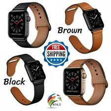 Genuine Leather Strap For Apple Watch Band 44mm 42mm 38mm 40mm Series 1 2 3 4