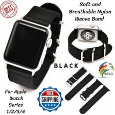 Replacement For Apple Watch 38mm 42mm 40mm Nylon Strap Band Black Series 1/2/3/4
