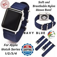 Wristband For Apple Watch 38mm 42mm 40mm Nylon Strap Band Blue Navy Series 1/2/3