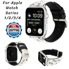 For Apple Watch 40/44/38/42mm Series 1 2 3 4 Mickey Printed Leather Band Strap
