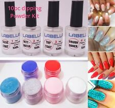 10 PCS Nail Dipping Powder Acrylic System Dry Fast set professional Starter Kit