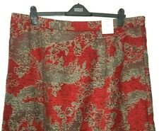 Ladies Aline Skirt M&S Grey Floral Jacquard Midi Cotton Mix BNWT Marks Classic