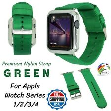 GREEN Woven Nylon Strap Loop Band 38/42/40/44mm For Apple Watch Series 4 3 2 1