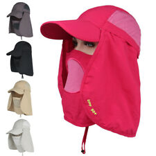 6cb82f2d Fishing Hiking Hat Outdoor Sport Sun Protection Neck Face Flap Cap Wide Brim