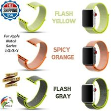 38/42/40/44mm Nylon Sport Loop Colors Strap Bands For Apple Watch Series 4 3 2 1