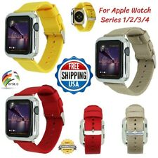 Woven Nylon Strap Loop Band 38mm/42mm/40mm/44mm For Apple Watch Series 4 3 2 1