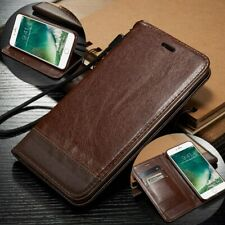 For iPhone XS Max Case XR 8 7+ Luxury Magnetic Leather Wallet Card Stand Cover