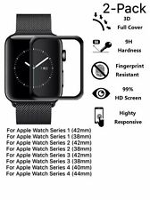 2x 3D Tempered Glass Screen Protector For iWatch Apple Watch 4/3/2/1 38/42/40MM