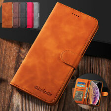 For iPhone 6s 7 Plus 8 XS Max XR Case Magnetic Leather Wallet Card Holder Cover