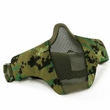 Airsoft Half Face Mask Steel Net Mesh Tactical Hunting Cycling Protective Mask