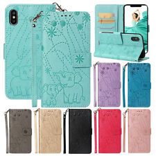 For iPhone XS Max Case X XR 8+ 7 Magnetic Leather Wallet Card Pocket Stand Cover
