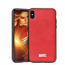 Authorized Marvel Avengers Genuine Leather Protective Phone Case for iPhone X XS