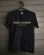 VINTAGE RARE 1Saint Laurent Paris Black New Gildan T-SHIRT SIZE S - 2XL