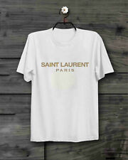 VINTAGE RARE 1Saint Laurent Paris White New Gildan T-SHIRT SIZE S - 2XL