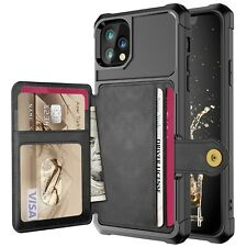 For iphone XS MAX XR X 8 7 6 + Card Slot Leather Flip Wallet Photo Holder Case